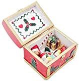EatingBiting 1:12 Dollhouse Miniature Furniture Vintage Christmas Red Wooden Ornament Box Mini Box Case Red Dollhouse Furniture Miniature Kitchen Bedroom Accessories Kids Pretend Toy Handcraft Gift