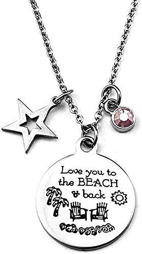 DUEJJH Co.,ltd Collar Diseño clásico para Hombres Retro para Mujeres Fácil de Combinar Personalidad Simple Vacaciones Junto al mar Collar con Colgante de Estrella de Cinco Puntas