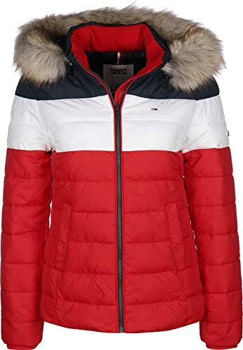 Tommy Jeans Damen TJW MODERN Colorblock Jacket Jacke, Rot (RED 0EW), (Herstellergröße:XS)