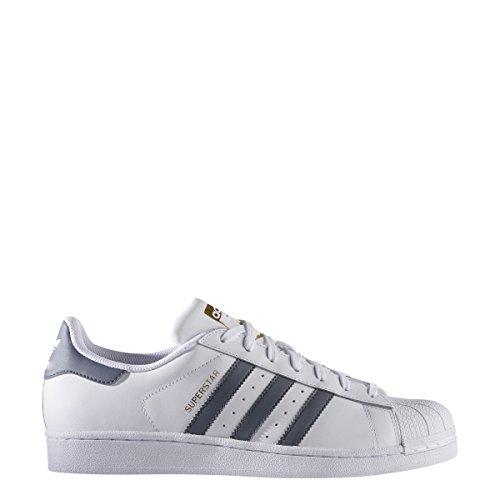 Adidas Mens Superstar Foundation Footwear White Onix Leather Trainers 40 2/3 EU