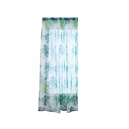 cortinas salon hojas azules