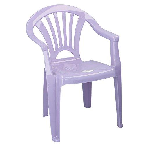 Stuhl aus Kunststoff für Kinder Kinderstuhl ideal für Kinderzimmer, Garten, Terasse (Lila/Fliederfarben)