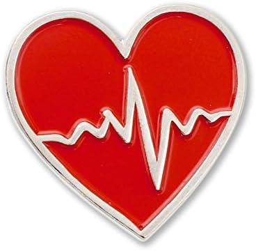 Heart Beat Cardiac Monitor EKG ECG Nurse Lifeline Lapel Pin 1 Pin product image