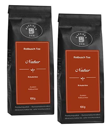 Natur 2 x 100g (39,75 Euro / kg) Paulsen Tee Rotbuschtee rückstandskontrolliert