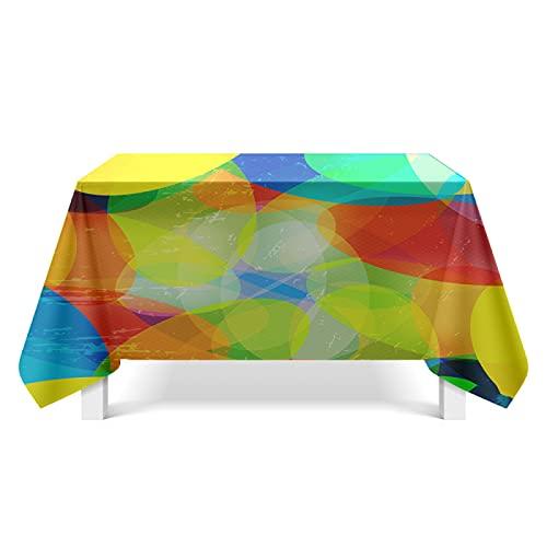 CYYyang Cubierta de Mesa de Simples Adecuado para la decoración de cocinas caseras, Varios tamaños Arte de Textura Colorida