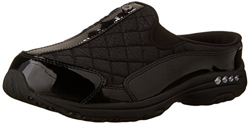 Easy Spirit womens Traveltime12 Mule, Black 966, 9.5 Wide US