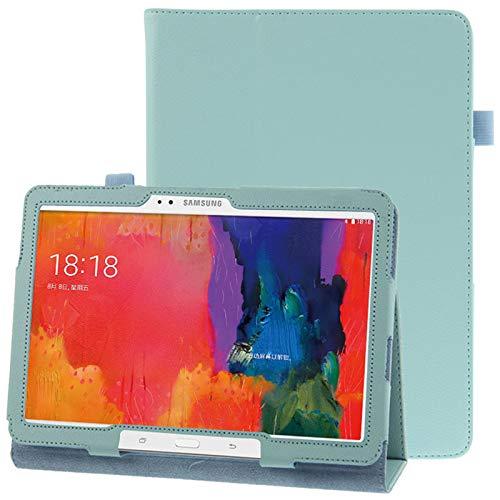 Caja Protectora de la Tableta Funda de Cuero con Textura con Soporte for Galaxy Tab Pro 10.1 / T520 (Azul) (Color : Blue)