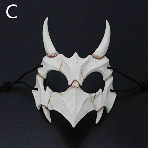 Mscara japonesa de dios dragn ecolgica y para fiesta temtica animal mscara de cosplay (C)