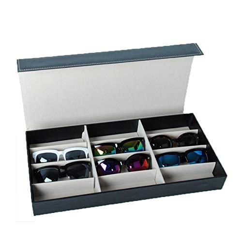 12 rejilla caja de almacenamiento para gafas de sol organizador de gafas vitrina soporte para gafas caja de anteojos caja de gafas de sol