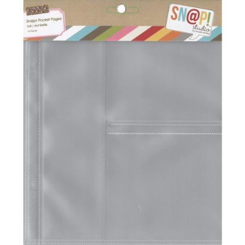 Mousqueton Simple étages Poche Pages pour 6 x 20,3 cm classeurs, Multicolore, 0.63 x 19.05 x 23.49 cm