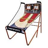 Máquina de tiro de baloncesto para niños Gran juego de arcade de baloncesto con 2 aros de tiro Soporte de disparo de baloncesto electrónico plegable para niños / adultos / adolescentes incluidos Máqui