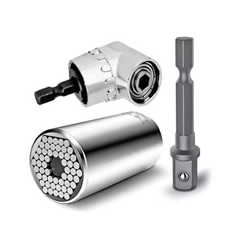 FZJDX 7-19mm Universal Torque Wrench Socket Sleeve Spanner+105 Degree Angle Power Drill Socket Holder Adaptor Tools Ratchet Wrench