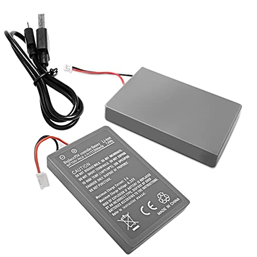 2.0Ah LIP1522 Battery Replacement for Sony PS4 Battery Playstation 4 CUH-ZCT1E CUH-ZCT1H CUH-ZCT1U Dualshock 4 Wireless Controller (Big Plug)