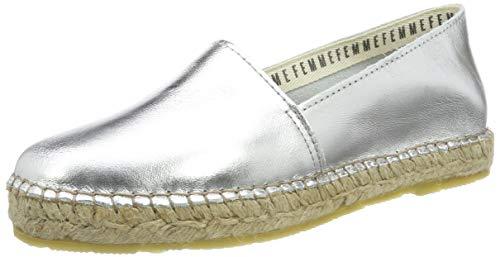 SELECTED FEMME Damen SLFMARIE METALLIC B Espadrilles, Silber (Silver Silver), 38 EU