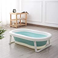 """✔【Spacious for baby to enjoy bath time】- with size 83cm x 52cm x 23cm/33"""" x 20"""" x 9""""(L*W*H). ✔【 High quality material】- environmentally friendly PP+TPE material, no odour, durable. ✔【Easy to install and uninstall】- To install, press the button to ope..."""