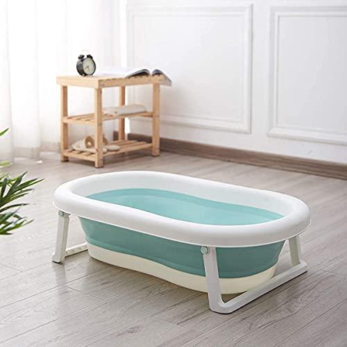 GoBuyer Ltd Baby Bath Tub for Toddler Kids Infant - Basin - Foldable Safe Non-Slip Portable (Green)
