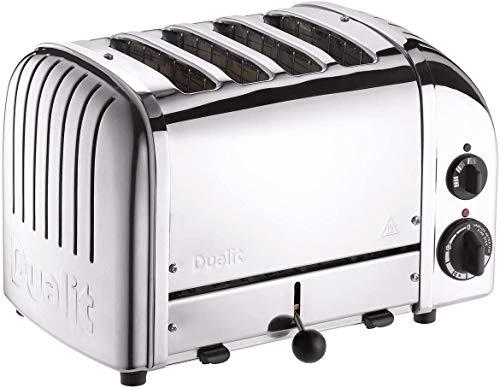 Dualit Klassischer Toaster mit 4 Schlitzen und Sandwichkäfig, Edelstahl poliert 40590