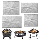 Alfombrilla protectora resistente al calor y al fuego, para quemar leña, para barbacoas y chimeneas, redonda, resistente al fuego