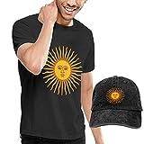 HQSL Set de Disfraces de Camiseta y Sombrero de Manga Corta para Adultos Argentina Sun