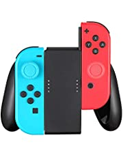 Komfortgrepp kompatibelt med switch Joy Con Controller, switch Joy-Con handgrepp (svart)