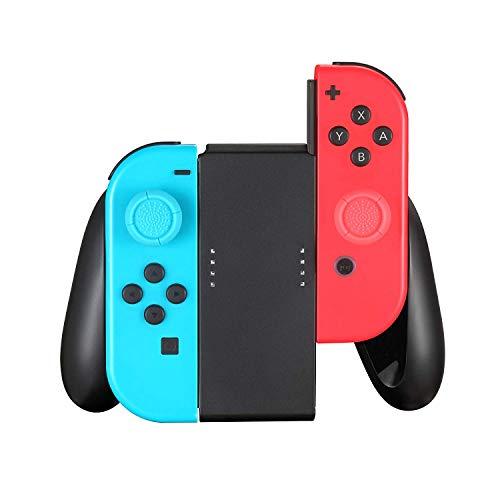 Schwarzer Komfortgriff Kompatibel für Switch Joy Con Controller, Schutzgriff Kits für Nintendo Switch Joy-Con