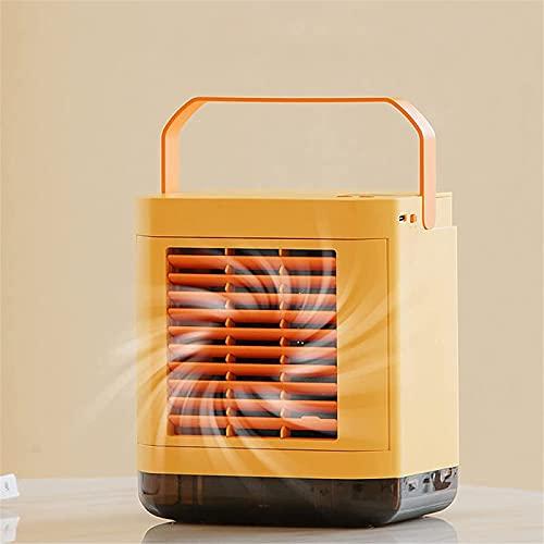 Aire acondicionado móvil 4 In1 Mini refrigerador de aire con luz nocturna LED, aire acondicionado con tanque de agua 2L y 3 niveles de potencia, purificador de aire |Ventilador de aire acondic