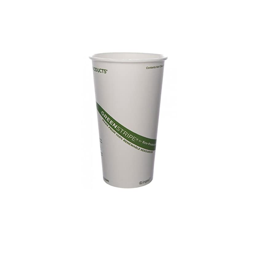 ソフトウェア外側ゴネリルEco-Products 20 oz GreenStripe Hot Cup - Case of 1000