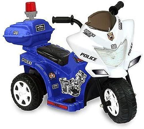 Kid Motorz Lil Patrol 6-Volt Motorcycle Ride-On in Blau & Weiß by Kid Motorz