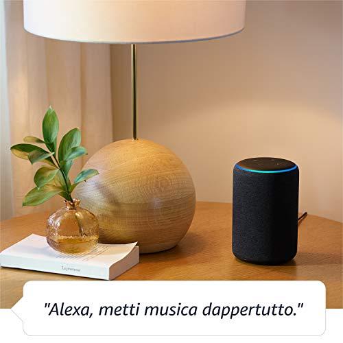 Amazon Echo (3ª generazione) Ricondizionato Certificato, Altoparlante intelligente con Alexa, Tessuto grigio chiaro