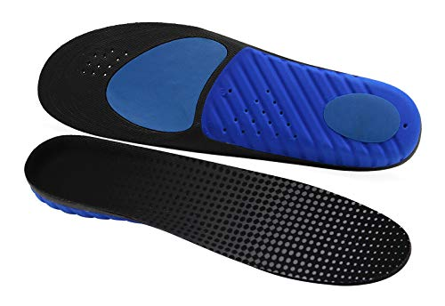 LASAR Insoles for Men & Women Provide All-Day Shock Absorption and Cushioning, Arch Support Orthotics Inserts Fit Work Boot,Walking,Running and Casual Shoes(Men's 8-11.5,Women's 10-13.5)