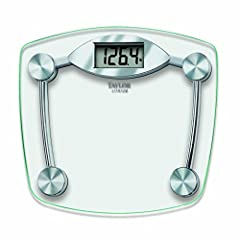 "13""X11. 75"" Digital Bathroom scale features an easy to read 1. 2"" Lcd display 400Lb(180 kg) capacity weighing in 0. 2lb increments Constructed with a high tempered clear glass scale platform and high quality chrome finish base Includes instant on, au..."