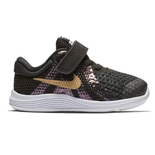 Nike Unisex Baby Revolution 4 Sh (TDV) Hausschuhe, Mehrfarbig (Black/Metallic Gold/White 001), 22 EU