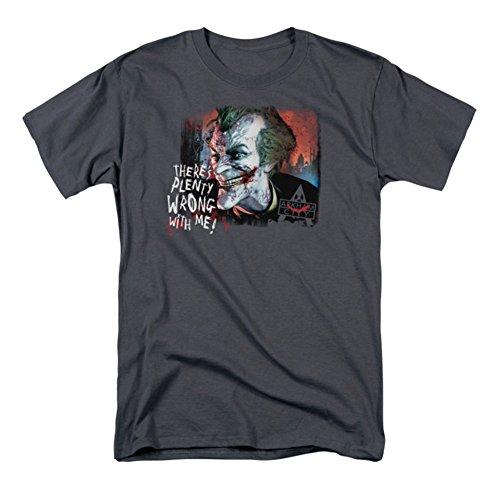 Batman Arkham City Bastante Mal Mens Camisa Manga Corta (carbón, XXX-Grande)