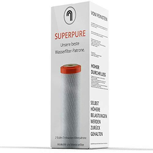 Sanquell GmbH Trinkwasserfilter SPFP Plus Superpure | Mikrofiltration in Turbogeschwindigkeit | 6 Liter pro Minute | nachhaltige Aktivkohle und Membranfilter aus der Medizintechnik