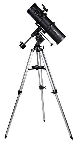 Bresser Spiegelteleskop Spica EQ 130/650 mit Smartphone Kamera Adapter und hochwertigem Objektiv-Sonnenfilter, inklusive Montierung, Stativ und Zubehör