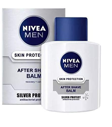 3er Pack - Nivea After Shave Balsam - Silver Protect - mit antibakterieller Wirkung - 100 ml