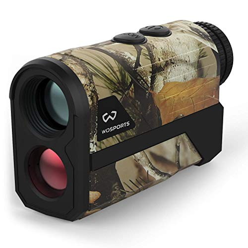 WOSPORTS 1200 Yards Hunting Rangefinder,Archery Rangefinder - Laser Range Finder for Hunting Golf with Speed, Scan and Normal Measurements (Yards Hunting-H100GM)