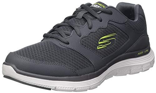 Skechers Flex Advantage 4.0, Sneaker Basse Homme, Char, 44 EU