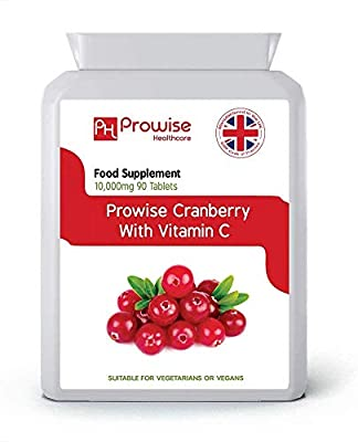 Prowise Cranberry 5000mg 90 Tablets - High Strength Daily Supplement – UK manufactured to GMP Guaranteed Quality – Suitable for vegetarians & vegans from PROWISE HEALTHCARE