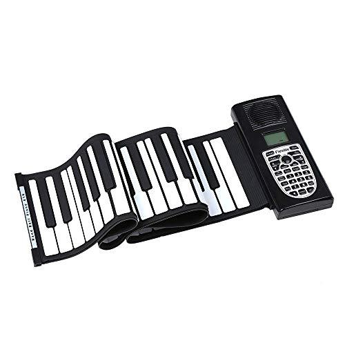 Portable Piano Roll Up Keyboard Piano Soft Silicon 61 toetsen Flexibele Opvouwbaar Electric Digital met opnamefunctie Programmeren speelfuncties MIDI Output LCD-scherm Ingebouwde luidspreker hoofdtele