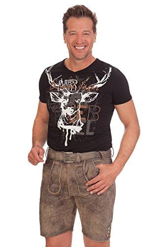 MarJo Trachten Lederhose kurz - Gernot - grau, Größe 44