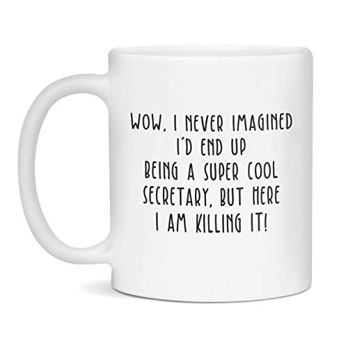 N\A Sekretär Tasse, Sekretär Geschenk, glücklichen Sekretär, Sekretär, Sekretär Tassen, Sekretär Geschenke, lustige Sekretär Tasse einzigartige Geschenk Neuheit Keramik Kaffee