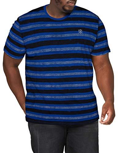 TOM TAILOR Men+ Streifen Camisa Cami, 23439/Violeta Azul Negrita Wat, 5XL para Hombre