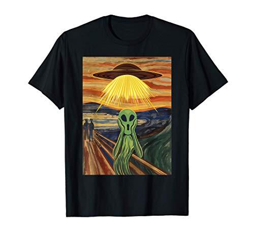 Alien Schrei UFO Geschenk - Techno Minimal Musik Alternativ T-Shirt