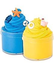 Joyjoz Slime Esponjoso Masa de Slime - 2 Paquetes de Slime Suave de Mantequilla Kit de Juguetes de Alivio de Estrés para Niños y Niñas, 5 Paquetes de Accesorios incluidos