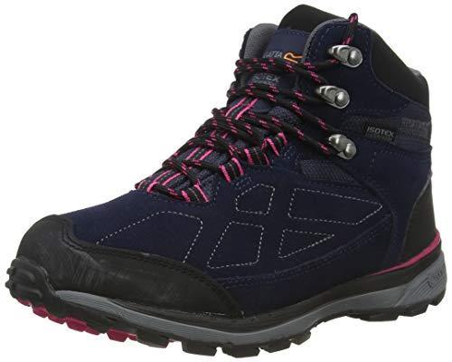 Regatta Chaussures Techniques Basses - Samaris Suede, Hiking Boot Femme Bleu et Rose Bleu et Rose 42 EU