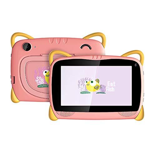 HJGHY Tableta para Niños Tableta con WiFi Android 6.0 de 7 Pulgadas para Niños Pequeños con Estuche de Prueba y Soporte Tableta de Aprendizaje para Niños para la Escuela en Casa,Rosado
