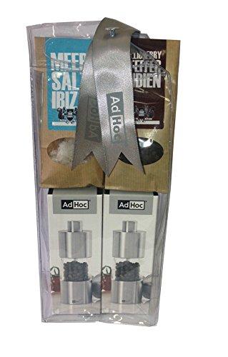 AdHoc MP01 cadeauset peper- en zoutmolen incl. zout en peper