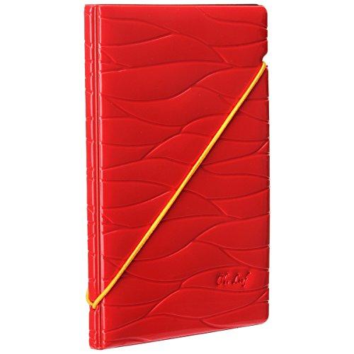 Woodmin Premium Shiny Portafoglio Porta Passaporto Della Carta di Identificazione del Cuoio Sintetico per la Corsa (rosso)