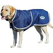 "Weatherbeeta Parka 1200D Deluxe Dog Coat (24"", Navy/Grey/White)"